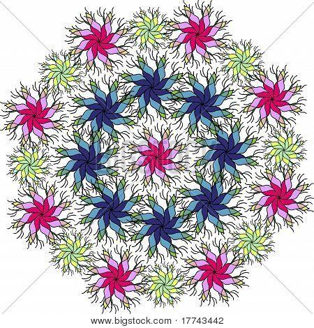 Round Flowers Background
