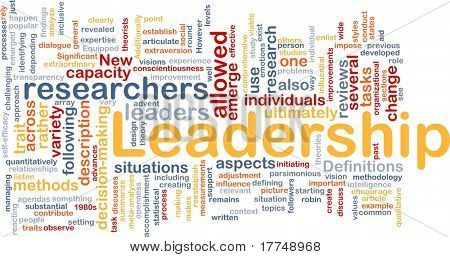 Background concept wordcloud illustration of leadership