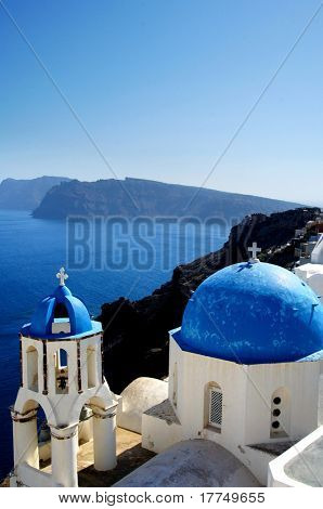 city in Santorini, on the Greek Islands