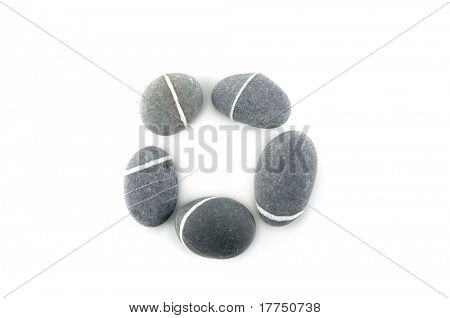 circle, stone on white background