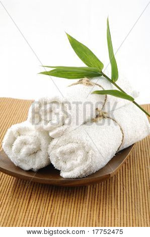green bamboo and spa item