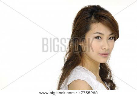 young woman portrait, studio shoot