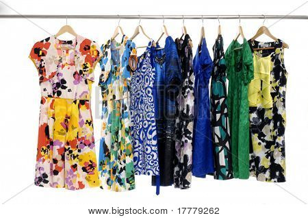 Designer fashion clothing rack display