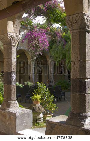 Italian Church Courtyard