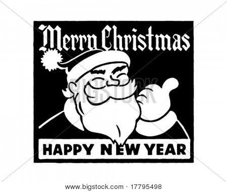 Merry Christmas - Retro Ad Art Banner