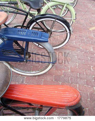 Old Bicycle Wheels
