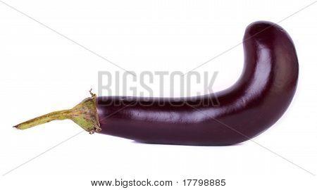 Curved eggplant