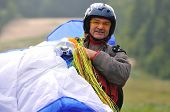 paragliding sport at beautiful nature and extreme scenes and people stunts