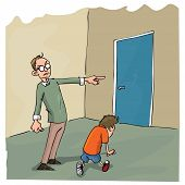 Cartoon Of Dad Scolding His Son