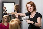 image of beauty salon interior  - At beauty salon - JPG