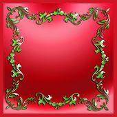 Decorative Stylish Elements Christmas Border
