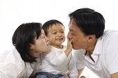 Постер, плакат: Счастливая семья Азии