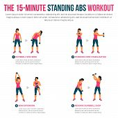15 Minute Standing Abs Workout poster
