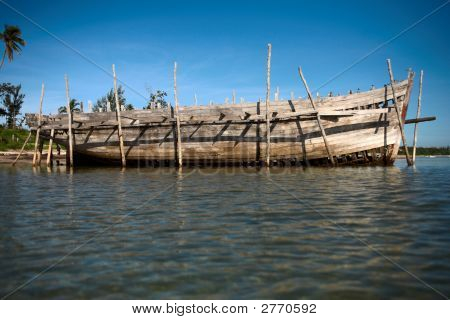Side Of A Big Dhow