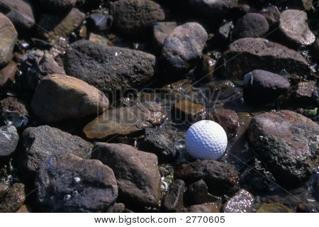 Golf On Rocky Beach