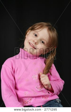 Child Keeps Hairs And Smiles