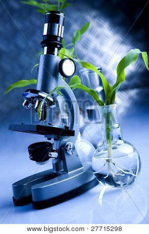 Microscope, laboratory and plant