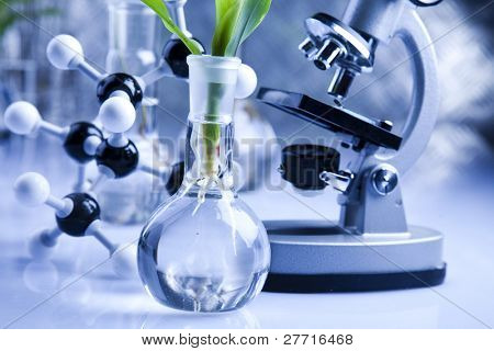 Biochemistry Laboratory and glass