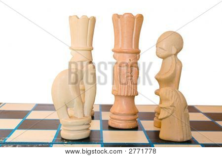A King Surroundered On The Chess Board