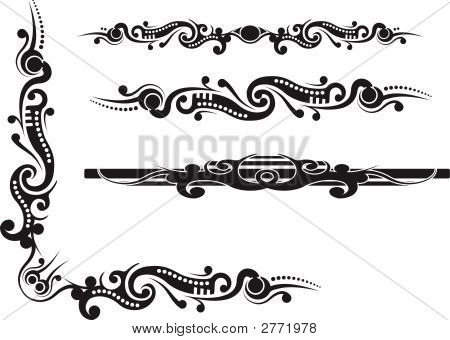 Tribal Pattern Corner Flourish With Dividers