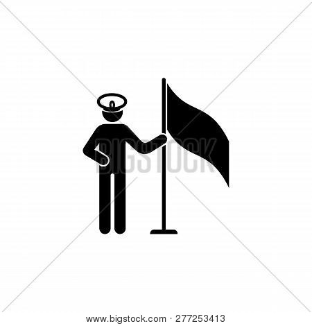 Flag Army Captain Icon Can