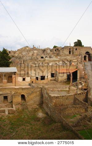 Italian Town Pompeii View On Ruins #2