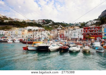 Boat On Capri Island