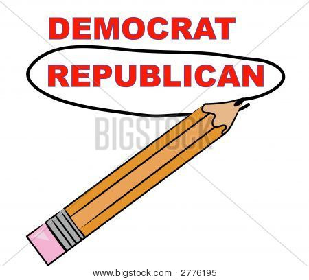 Pencil Choosing Republican