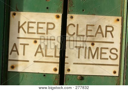 Keep Clear At All Times 01