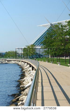 Milwaukees Lakefront Gehweg