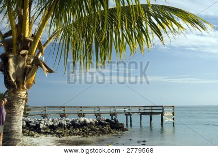 Pier Over Atlantic Ocean Florida Keys