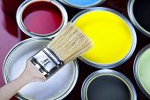 foto of paint brush  - Paint and brush - JPG