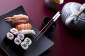 Постер, плакат: Традиционной японской кухни суши