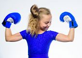 Strong Child Boxing. Sport And Health Concept. Boxing Sport For Female. Be Strong. Girl Child With B poster