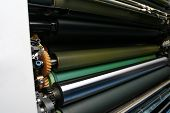 Ink Rollers On Offset Printing Machine