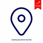 Location Pin Icon Vector On White Background. Map Pointe Icon, Location Pin Icon Modern Icon For Gra poster