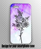 Vector Illustration Pattern - Mobile Phone Case With A Beautiful Stylish Design. Beautiful Violet-pi poster