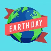 Happy Earth Day Concept. Happy Earth Day Banner For Environment Safety Celebration. April 22 Earth D poster