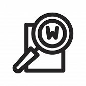 Searching Vector Icon On White Background. Searching Icon In Modern Design Style. Searching Vector I poster