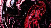Pink And Black Psychedelic Paints Are Mixed Into Abstract Patterns In White Liquid poster