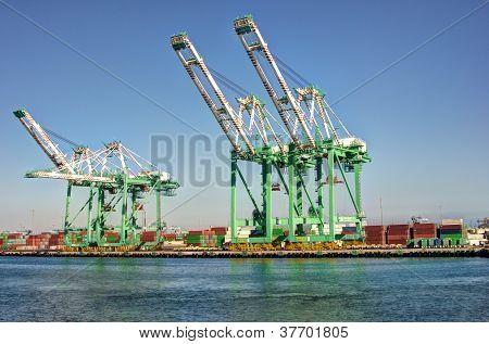 Shipping Cargo Crane Port Of Los Angeles