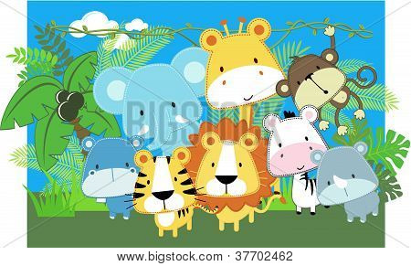 Cute Safari baby Animals