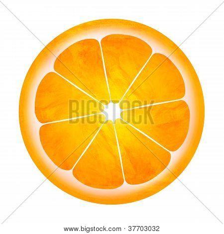 Slice Of Orange Illustration Isolated On White