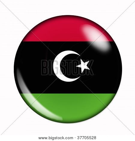 Button Flag Of Libya