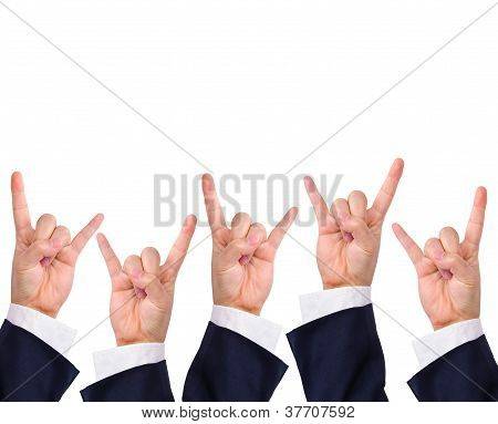 Conceptual Image, Rock Hand Signs