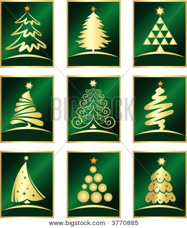 Vector Set Of Design Logo Christmas Elements