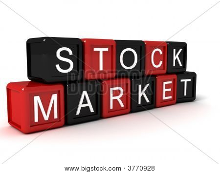 Stock Market Word Build With Blocks