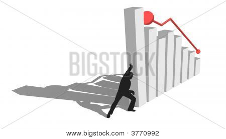 Finance Diagram Is Falling Down