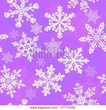Purple snowflakes seamless