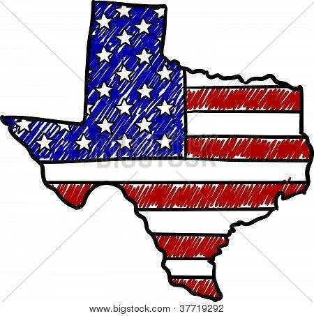 American Texas sketch